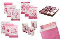 """Поздравителни картички """"Сърце"""" - 120 бр (различни дизайни)"""