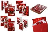 Поздравителни картички РОЗА - 120 бр (различни дизайни)