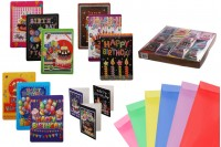 Поздравителни картички за рожден ден - 120 бр (различни дизайни)