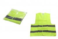 Жилетка за безопасност Жълт със светлоотразителни ленти