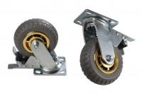 Колело за колички  с въртяща се спирачка