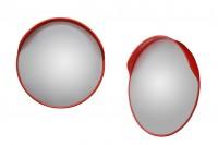 Извито предпазно огледало с основа на полюс и диаметър 60 см