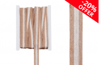 Декоративна лента изрязана от хартия двуцветна кафява широчина 17 мм (10 метра парче)