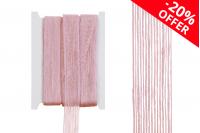 Декоративна розова лента зебло, с ширина 25мм ( 10 метра на парче)