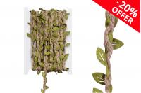 Декоративна плитка със зелени листа, ширина 7мм ( 10 метра на парче)