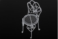 Декоративно миниатурно метално столче, с размери 60х140 mm
