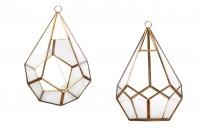 Стъклен декоративен свещник 313-8
