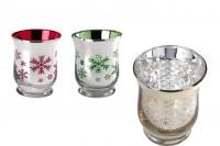 Стъклени купи за свещи  9x11 cm