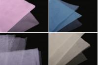 Нарязан гръцки тюл с размери 25х25 см, в различни цветове - по 100 броя на пакет