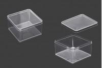 Пластмасова прорзачна кутийка с размери 90х90х57 мм -6 бр.