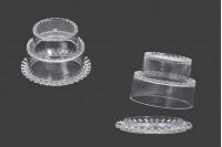 Прозрачни пластмасови кутийки 65х45 мм - 12 бр