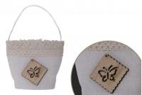 Торбичка сватбена бонбониера  64x45x73mm