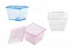 Пластмасова купа 70 мл с капак в 4 различни цвята