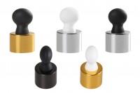 Алуминиев ринг и пластмасов биберон (комплект) без дюза за бутилки с гърловина  PP20