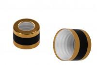 Алуминиев златен пръстен с черна ивица за пипети от 5 до 100 мл