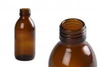 Стъклена кафява бутилка за етерични масла 150 мл ПП28