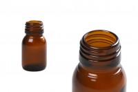 Стъклена кафява бутилка за масла 30 мл  PP28