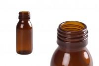 Стъклена кафява бутилка 60 мл (PP28) за етерични масла, есенции и др.