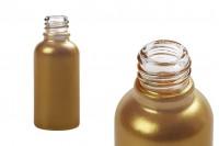 Стъклена бутилка за етерични масла 30 мл (златна перла)  с гърловина  PP18