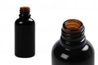 Стъклена черна  бутилка 30 мл за етерични масла