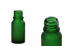 Стъклена матова зелена бутилка 10 мл за етерични масла