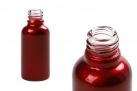 Стъклена червена  бутилка 30 мл за етерични масла