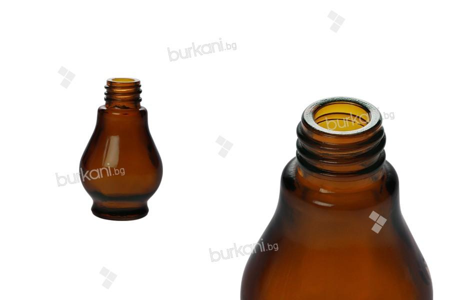 Стъклена кафява бутилка за етерични масла (PP18)