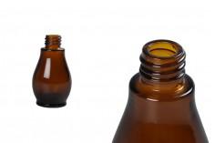 Стъклена кафява бутилка за етерични масла 30 мл  (PP18)