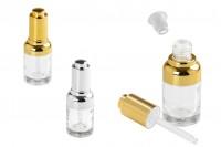 Стъклена бутилка  30 мл с капкомер пипета, цедка  и капачка с бутон