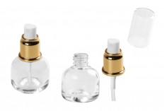 Стъклена бутилка 30 мл със спрей помпа и капачка