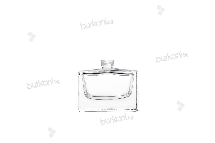 Стъклена бутилка за парфюм  30 мл правоъгълна (РР 15)