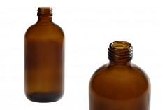 Стъклена кафява бутилка 250 ml  (PP24)