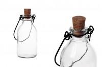 Стъклена бутилка с метална дръжка и коркова тапа  100ml