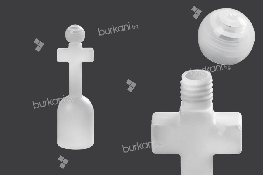 Пластмасова бутилка 125 мл във формата на кръст с капачка