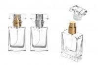 Стъклена бутилка 30 мл със спрей помпа и капачка за парфюм