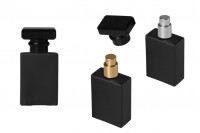 Стъклена черна бутилка за парфюм 30 мл