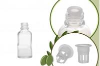 Стъклена прозрачна бутилка 30 мл за зехтин, масла или олио