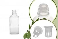 Стъклена прозрачна бутилка 50 мл за зехтин