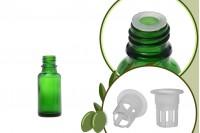 Стъклена зелена бутилка 20 мл