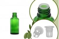 Стъклена зелена бутилка 30 мл за зехтин