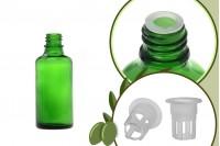 Стъклена зелена бутилка 50 мл