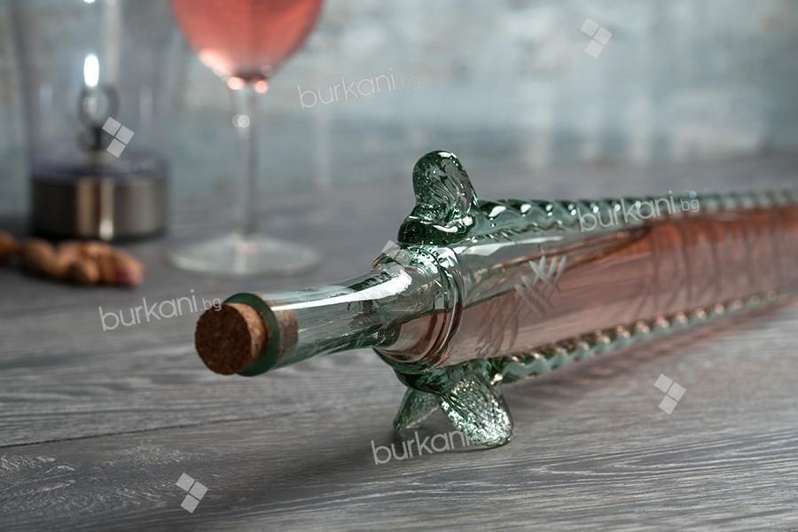 Стъклена бутилка 400 мл с тапа