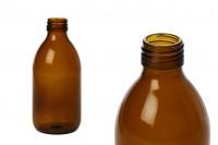 Стъклена кафява бутилка 250 мл