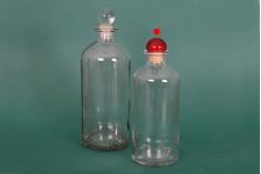 Цилиндрична стъклена бутилка 500 мл