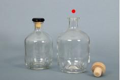 Цилиндрична стъклена бутилка 700 ml