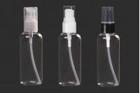 Пластмасова бутилка (PET) 100 мл  с помпа - 12 бр