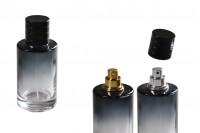 Стъклена бутилка за парфюм със спрей и капачка (PP 15) - 30 ml