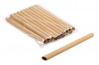 Екологични сламки от бамбук 200х12 мм - 20 бр