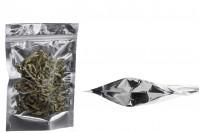 """Алуминиева прозрачна торбичка DOYPACK с цип  """"zip"""", с размери  160x40x240 - 100 броя"""