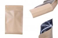 """Опаковка тип DOY PACK с """"цип"""" затваряне и алуминиева вътрешна облицовка и възможност за термозапечатване140x70x240 mm - 50 бр."""